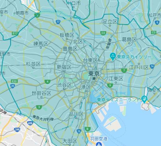 東京23区エリアの範囲